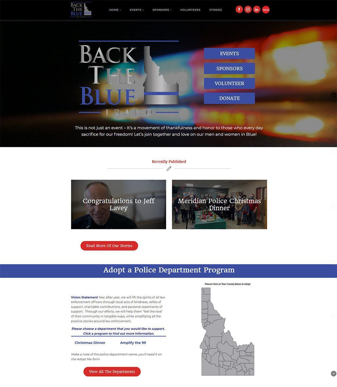 Homepage image of Back the Blue Idaho