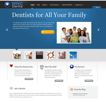 Snaphot of WNC Dental WordPress Blog Installation
