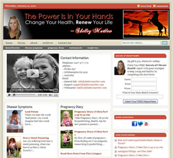 Custom theme modification at ShelleyMartlew.com