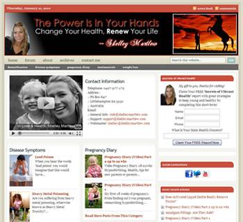 Custom theme modification at ShelleyMartlew.com
