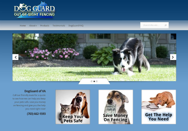 Dog Guard VA, theme customizations using the EvolutionElegant Theme