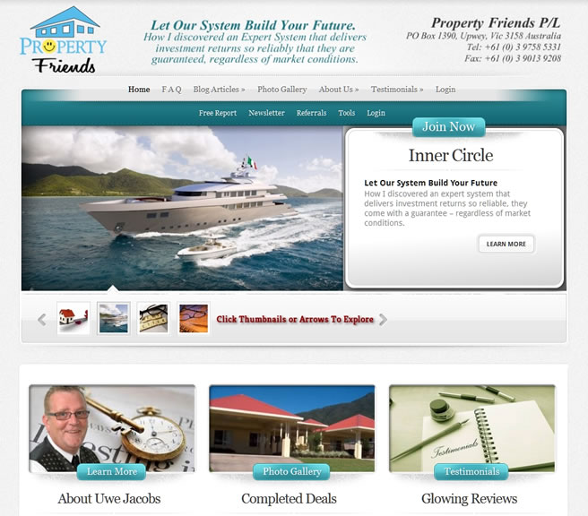 Property Friends, Australia, theme customizations using Elegant Themes
