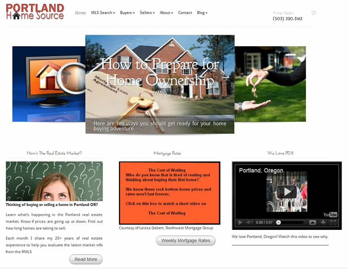 Portland Home Source, theme customizations using the Modest Elegant Theme